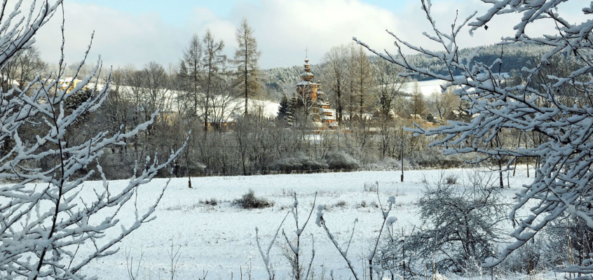 Religia Łemków, budowa cerkwi ijej wnętrza.