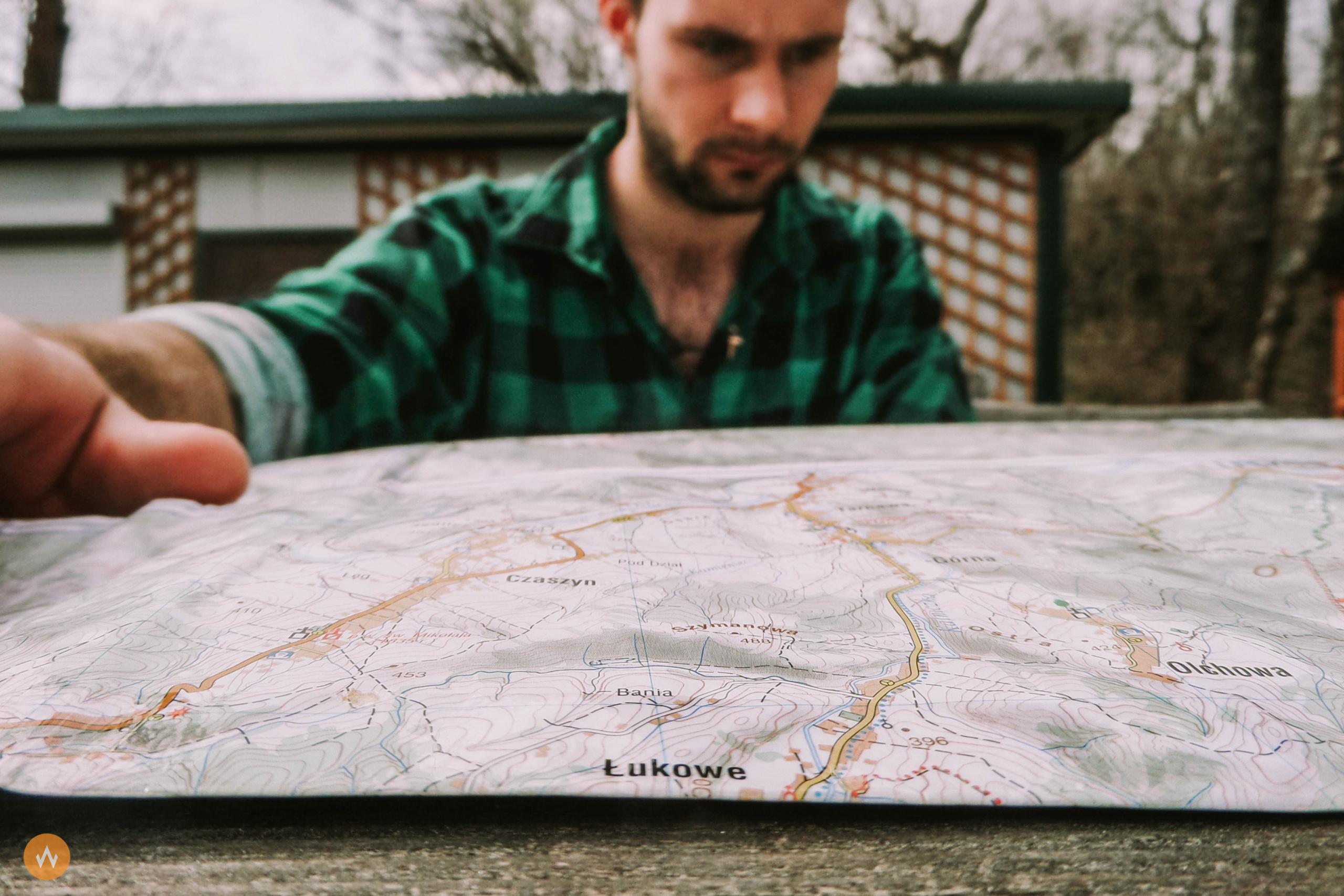 mapa papierowa